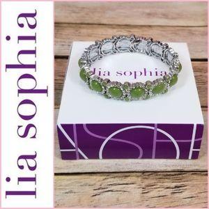 NEW Lia Sophia Sparkler Stretch Bracelet - Grass